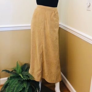 Christopher & Banks women's tan long skirt size 10